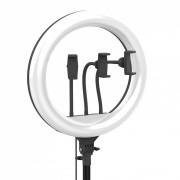 Круговая лампа для селфи ZB-F348, 44 см, + пульт, с сумкой (без штатива)