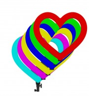 """Кольцевая лампа для селфи """"Сердце"""", 49 см, с сумкой (без штатива)"""