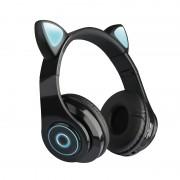 Наушники Bluetooth полноразмерные Cat Ear VZV-B39 со светящимися кошачьими ушками, черный
