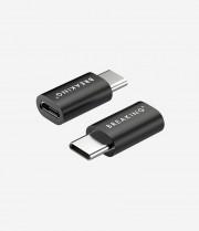 Адаптер Breaking, Micro-USB - USB-C, черный