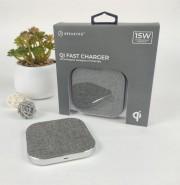 Беспроводное ЗУ Breaking Qi Fast Charger, 15W, серебряный