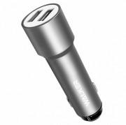 AЗУ WALKER 2в1 WCR-22, 2 USB разъема (2,4А) блочок (удлиненный корпус) + кабель Micro, серый