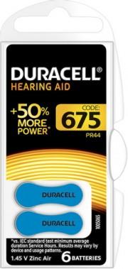 Duracell 675/6BL PR44 Zinc Air (комплект 6 штук - цена за 1 шт)
