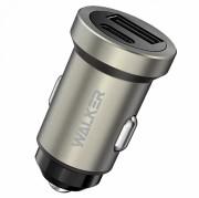 AЗУ WALKER 2в1 WCR-25, USB + Type-C разъемы, 36W, PD+QC 3.0, блочок, серый