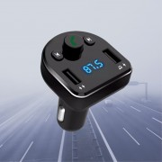 АЗУ XO BCC01 2 USB разъема (2.1А) блочок, Bluetooth, FM, Hand-free Phones, черный