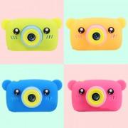 """Детский фотоаппарат + чехол """"Мишка"""" (съемка видео, экран 2"""", microSD, игры), зеленый"""