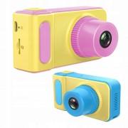 "Детский фотоаппарат Эко (видео, экран 2"", microSD, игры), желто-голубой"