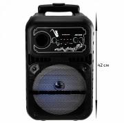 Аудио-колонка JBK 0808 SD micro+USB+micro USB+AUX+Bluetooth, черная