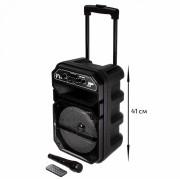 Аудио-колонка JBK 0809 SD micro+USB+micro USB+AUX+Bluetooth, черная