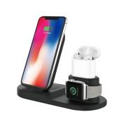 Быстрое беспроводное ЗУ VAmobile 3в1 (телефон, AirPods, Apple Watch) (OJD-45), черный