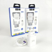 Сетевое зарядное устройство Depak DH-G06 1USB + кабель Lightning, 2.4A, белый