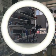 Круговая лампа для селфи (RL18) 45 см с пультом + штатив