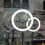 Круговая лампа для селфи 45 см с пультом + штатив