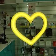 """Круговая лампа для селфи 45 см """"Сердце"""" + штатив, с сумкой"""