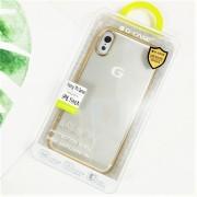 Чехол-накладкa для iPhone X/XS, G-Case с цветной рамкой, золотой