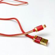 Breaking Кабель для iphone 5/6 Denim (джинсовый) USB - Lightning 1m (21212) красный