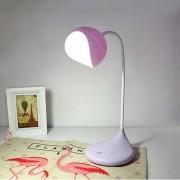 Светодиодный настольный светильник (LED) №8012, с аккумуляторм 1200mAh, 3.7V, 3W, розовый