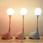 Светодиодный настольный светильник (LED) №8002, с аккумуляторм 1200mAh, 3.7V, 2W, розовый