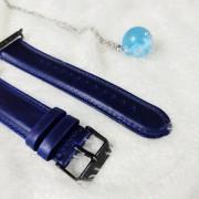 Ремешок для Apple Watch 38-40mm, New Luxury leather, темно-синий