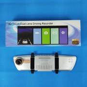 Видеорегистратор-зеркало W708, с камерой задн. вида,1080P, GPS, ночн. режим, сенс. экран, датчик дв.