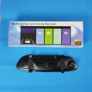 Видеорегистратор-зеркало W712, с камерой задн. вида,1080P, GPS, ночн. режим, сенс. экран, датчик дв.