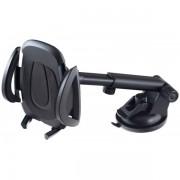 "Perfeo-521 Автодержатель для смартфона до 6,5""/ на стекло/ торпедо/ супер присоска (PF_5037) черный"
