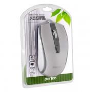 Perfeo мышь оптическая PROFIL, 4 кн, USB, бело-серый