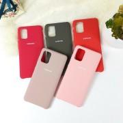 """Чехол-накладка для Samsung A01 серия """"Оригинал"""", Soft Touch, красный"""