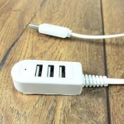 Разветвитель USB на 3 USB-порта (0,3 метра) без упаковки, белый