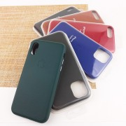Чехол-накладка для iPhone 11 Leather Case, малиновый