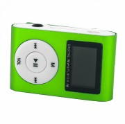 MP3 плеер MP01 + FM радио c дисплеем, зеленый