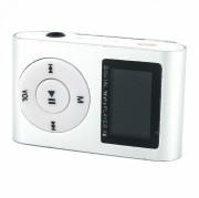 MP3 плеер MP01 + FM радио c дисплеем, серебряный