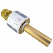 Микрофон-колонка WS-858 Bluetooth + FM + SD micro + USB + AUX, золотой