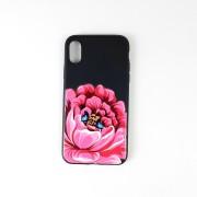 """Чехол-накладкa для iPhone X/XS, """"Цветы"""" силиконовый, в ассортименте"""