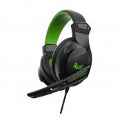Игровая гарнитура RUSH BEAT'EM, динамики 40мм, поворотный микрофон, черн/зел