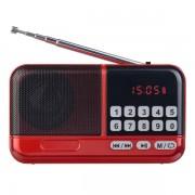 Perfeo радиоприемник цифровой ASPEN FM+ 87.5-108МГц/ MP3/ питание USB или 18650/ красный (i20)