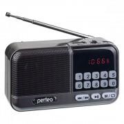 Perfeo радиоприемник цифровой ASPEN FM+ 87.5-108МГц/ MP3/ питание USB или 18650/ серый (i20)