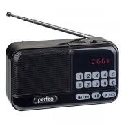 Perfeo радиоприемник цифровой ASPEN FM+ 87.5-108МГц/ MP3/ питание USB или 18650/черный (i20)