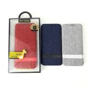 Чехол-книга Samsung S8 Plus, Funky Series, деним, красная