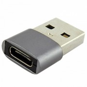 Адаптер WALKER переходник USB - TYPE-C металлический