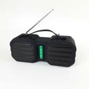 """Perfeo Bluetooth-колонка """"STAND"""" FM, MP3 microSD, USB, AUX, мощность 10Вт, 2400mAh, черно-зеленая"""