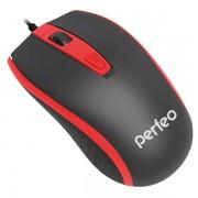 Perfeo мышь оптическая PROFIL, 4 кн, USB, черно-красный