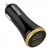 Авто ЗУ SmartBuy® TURBO PD+2.4 А, 1 USB + 1 USB Type C, 18 Вт, 2 USB (SBP-2033C), черный