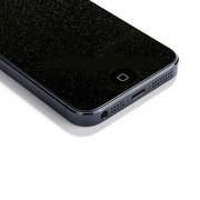 Декоративная плёнка на iPhone 4 с блестками, черная