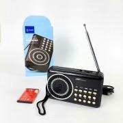 FM приемник H22U (FM, AUX, microSD, USB) DREAM, черный