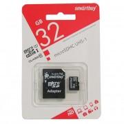 Micro SD 32GB SmartBuy (Class 10) с адаптером UHS-1 (SB32GBSDCL10-01)
