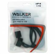 Walker C110 USB кабель iPhone 3G/4S в пакете, черный