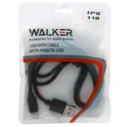 Walker C110 Кабель для iPhone 5/6, в пакете, черный