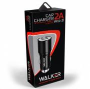 AЗУ WALKER WCR-21 2 USB разъема (2,1А) блочок, черный