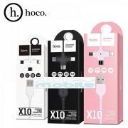 Hoco X10 универсальный кабель iPhone 5/6 + Micro 2в1 силиковый белый, длина 1м